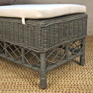 Rattan Bench WC DG