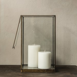 Display Case Brass and Glass
