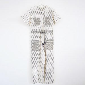 Ikat jumpsuite in Ivory