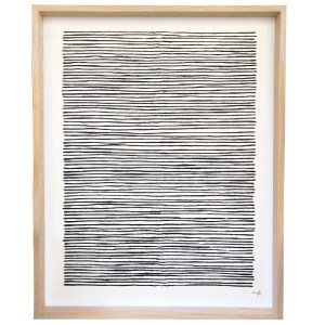Abstract Print Black Lines