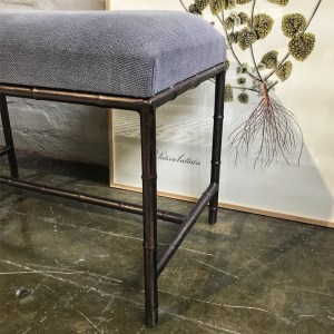 Upholstered Iron Bench