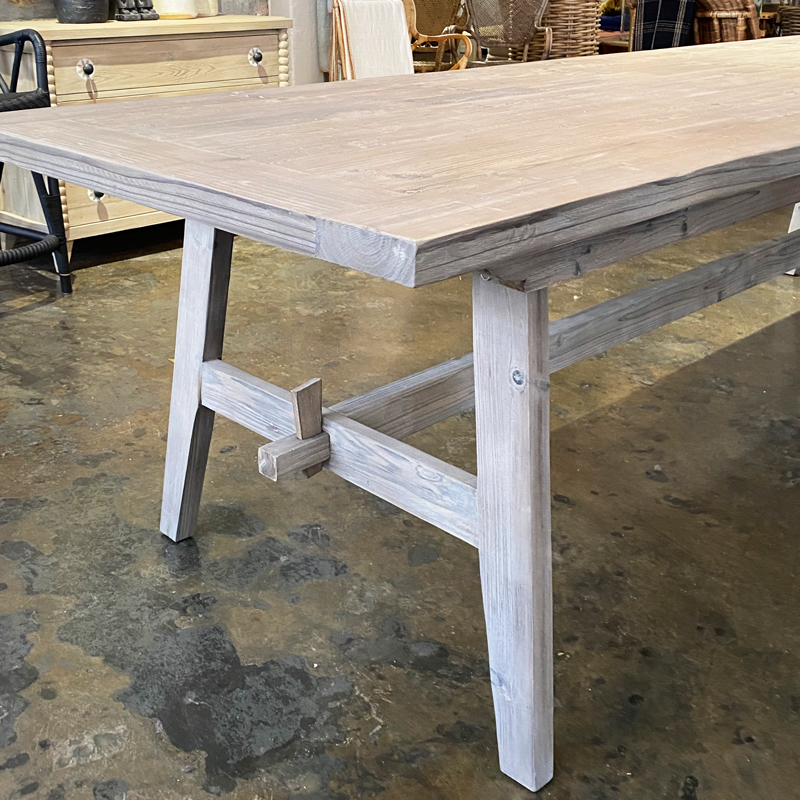 Trestle Dining Table detail