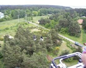 Luftaufnahme Zeltplatz Blick zum Parkplatz