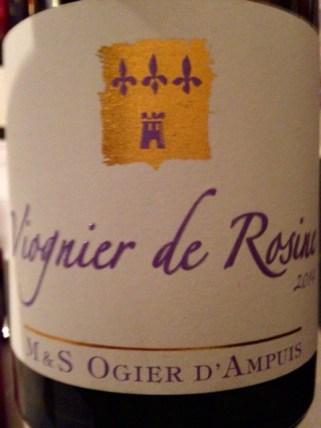 2014 Viognier de Rosine, Ogier