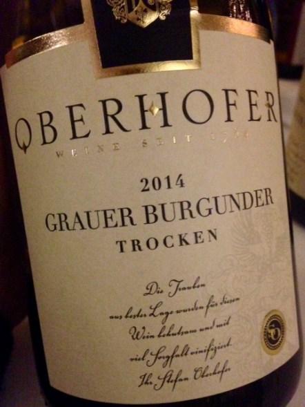 2014 Grauer Burgunder trocken, Oberhofer