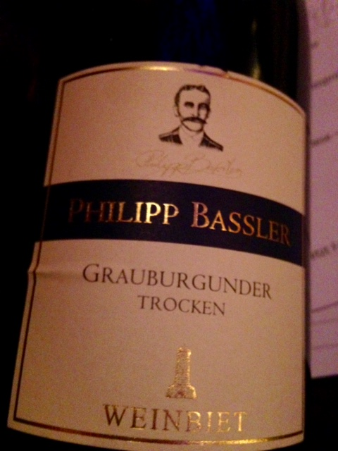 2014 Philipp Bassler Grauburgunder trocken