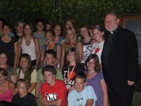 Erbischof Marx und die Wangener Ministranten in Rom