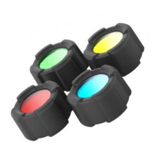 Filtres 4 couleurs pour Lampe Torche LED MT10