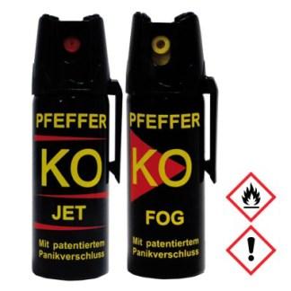 Pfefferspray PFEFFER KO JET und FOG