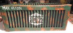 Fertiger Container von der Seite