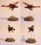 1/3 Jagddrohnen aus einem Drohnenteam. Ausgestattet mit Massenbeschleunigergewehr