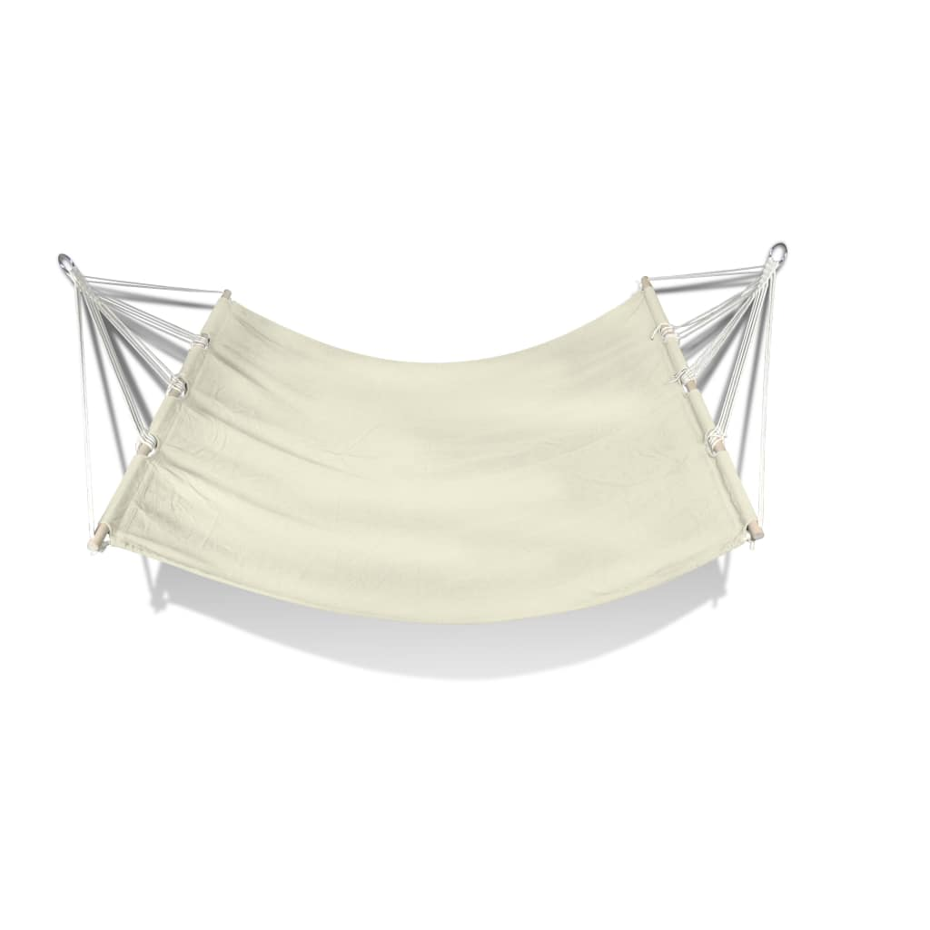 Heavy Duty Quilted Fabric Double Hammock Bed Spreader Bar