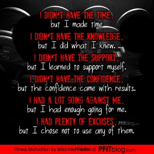 Fitness Motivation: No Excuses