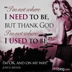 I'm OK and on my way!