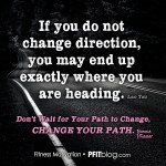 change directions