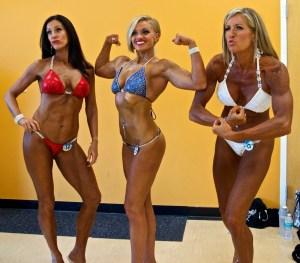 bikini competitor flex fun