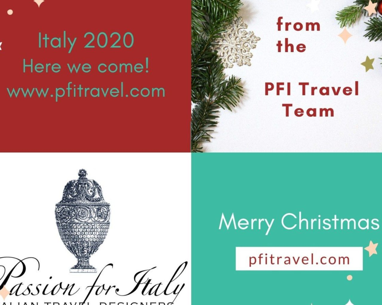 Christmas Message Passion for Italy Travel