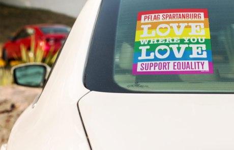 Spartanburg HubLove Love Where You Love Sticker