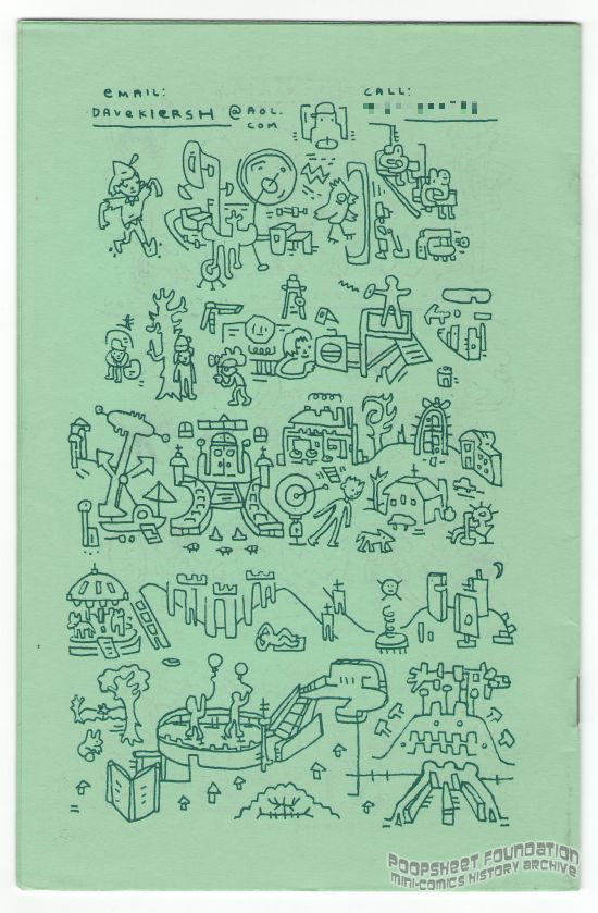Dirtbag #7 back cover art by Dave Kiersh.