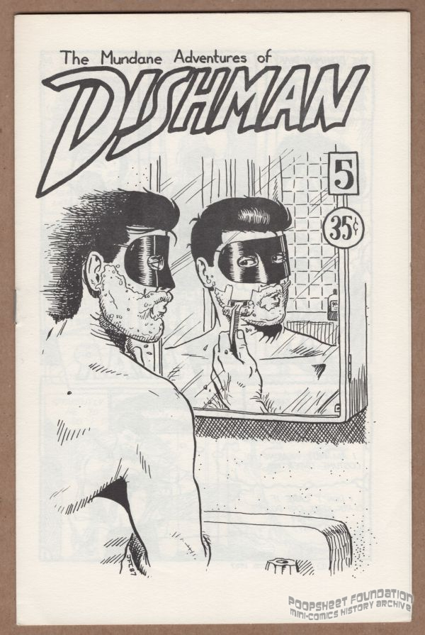 Dishman shaves over the sink on the cover of John MacLeod's Dishman #5.