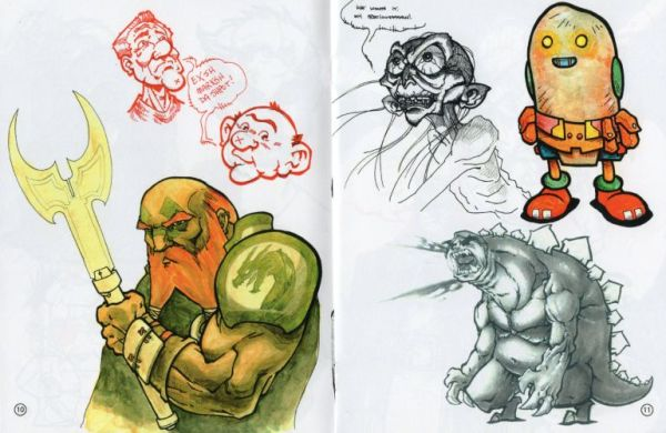 Sample artwork featuring Gollum and other characters.