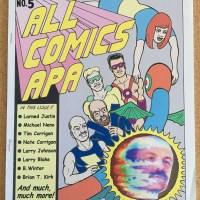ALL COMICS APA #5 fanzine TIM CORRIGAN Larry Blake LARRY JOHNSON small press 2005