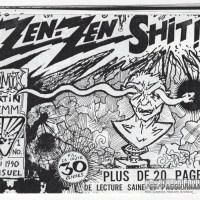 ZEN ZEN SHIT #1 underground comix MARTIN LEMM Canadian minicomix small press comic zine 1990