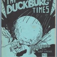 DUCKBURG TIMES #15 comic fanzine CARL BARKS Walt Disney DUCKS Jim Korkis 1982