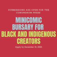 Conundrum Press: BIPOC Mini-Comic Bursary now open for submissions