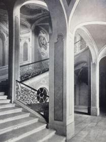 Kunstdenkmäler 1939, Pförten, Schloss, Treppenhaus