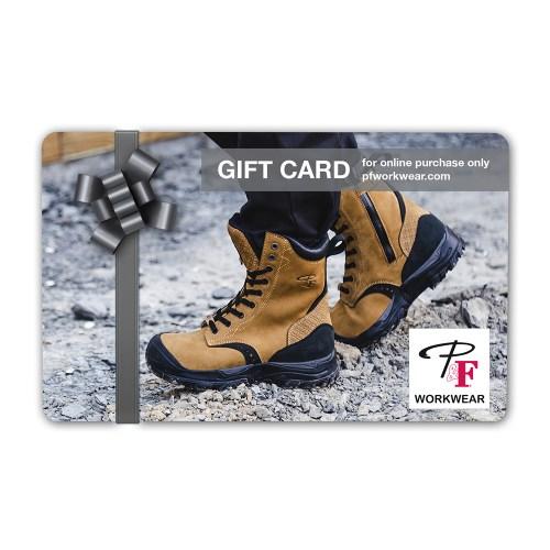 P&F Workwear Virtual Gift Card V10