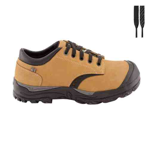 Womens steel toe safety shoes, tan colour