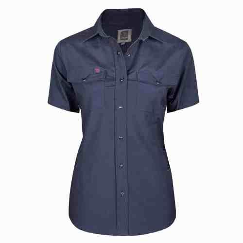 Womens work shirt, short sleeves