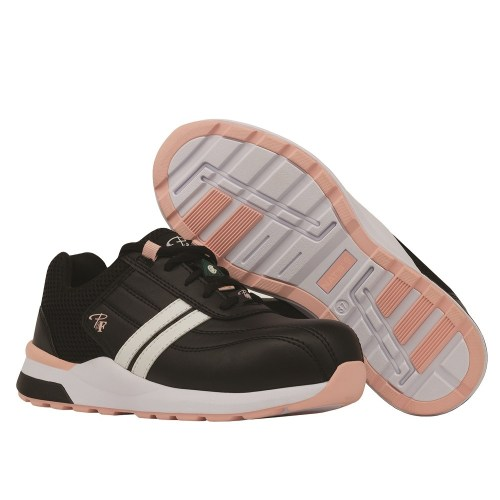 Steel toe safety shoes for women, Pink