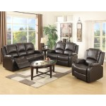 Details About 3 2 1 Sofa Set Loveseat Couch Recliner Leather Living Room Furniture Black