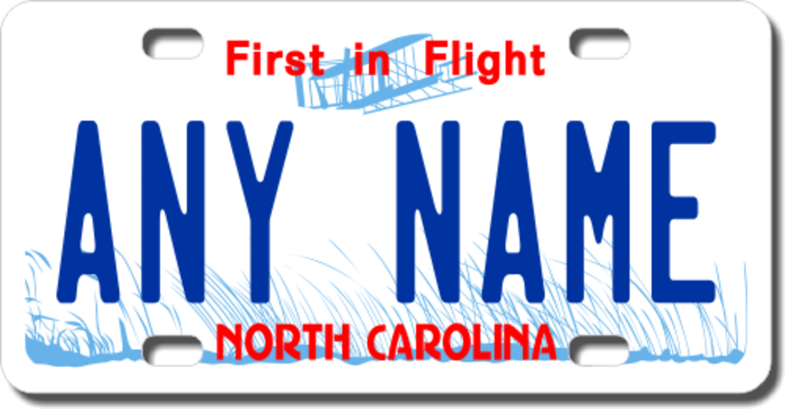 Personalized License Plate Tags