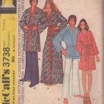 Momspatterns Vintage Sewing Patterns Mccall S 3738 Vintage 70 S Sewing Pattern Neat Extra Carefree Inspired By Ross Hunters Lost Horizon Wrap Around Kimono Robe Bathrobe Set Spa Robe For Men Women