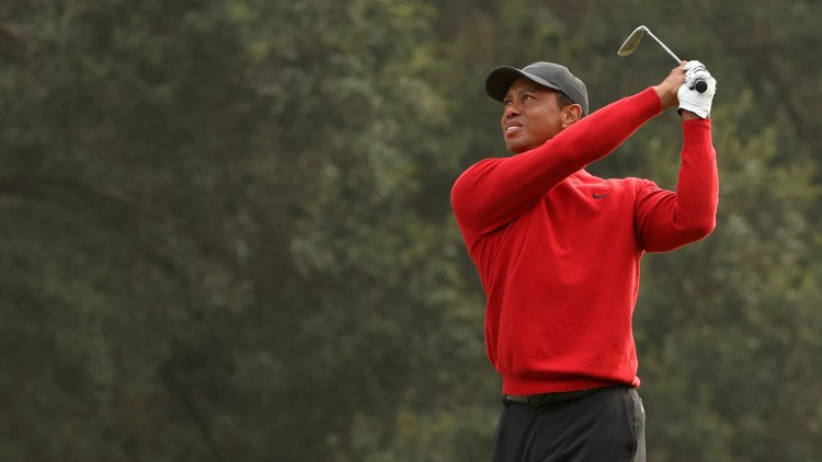 Tiger Woods was injured in a car accident on Feb. 23. (Jaime Squire/Getty Images)