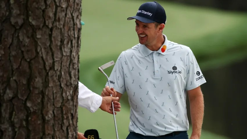 It was all smiles for Justin Rose after shooting 65 in Round 1 of The Masters. (Kevin C. Cox/Getty Images)