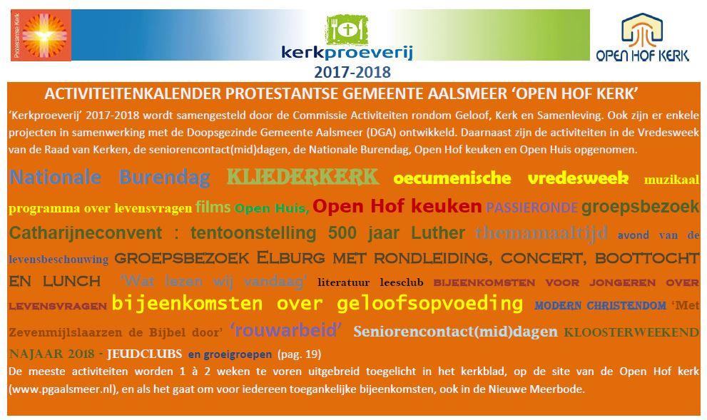 Bekijk en download het activiteitenboekje van de Open Hof Kerk Aalsmeer 2018-2019