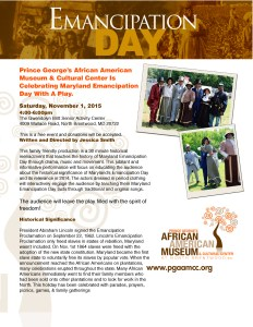 Emancipation Day Play Flyer
