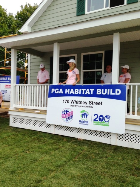 PTWA VP of Community Outreach, Meagan Laird, speaking on the collaboration with PGA of America