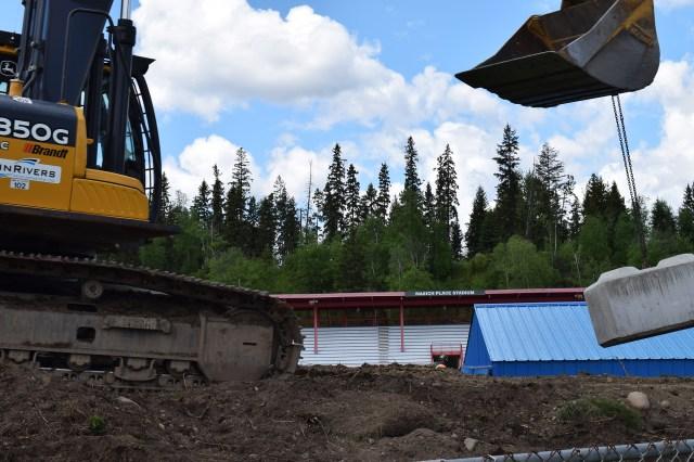 Works begins on Masich Place redevelopment. Bill Phillips photo