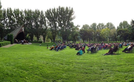 Nice turnout for Pops in the Park Sunday ... before the rain set in. PGSO Twitter photo