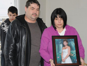 Natasha Montgomery's family held a smudge ceremony in 2012 at the house where they believe she was murdered.