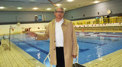 Doug Wournell says a new pool will be more accessible. Bill Phillips photo