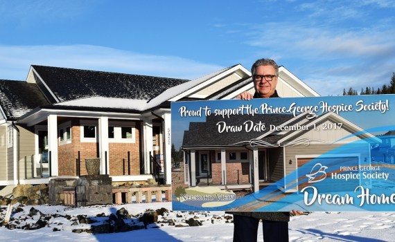 Mayor Lyn Hall urges Prince George residents to get out and buy a ticket on the Hospice House Dream Home Lottery. The draw is December 1. Bill Phillips photo