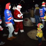 Meeting the Big Guy at the Civic Light Up ceremonies Sunday. Bill Phillips photo