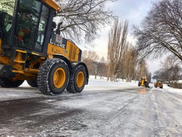 City crews are operating on priority one and priority two routes throughout the city, including in the Hart, College Heights, and Blackburn. City of Prince George photo