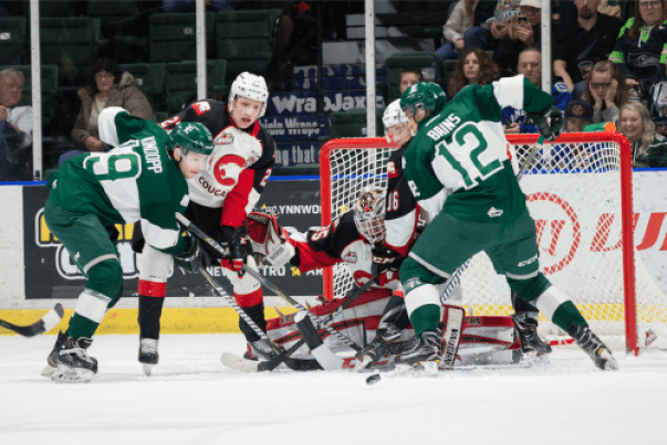 The Prince George Cougars won't be soon doing any cross-border shopping, as they dropped a 4-0 decision to the Everett Silvertips Saturday, at Angel of the Winds Arena. Prince George Cougars photo